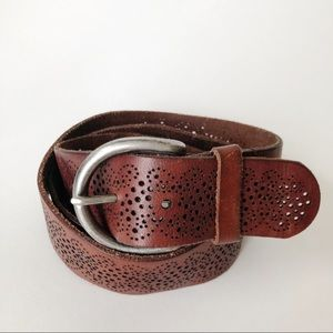 American Eagle Outfitters Brown Leather Belt Large